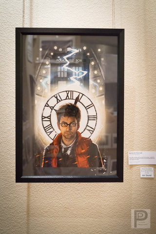 "Large Framed Art - 13x19"" Back to the Time Lord"