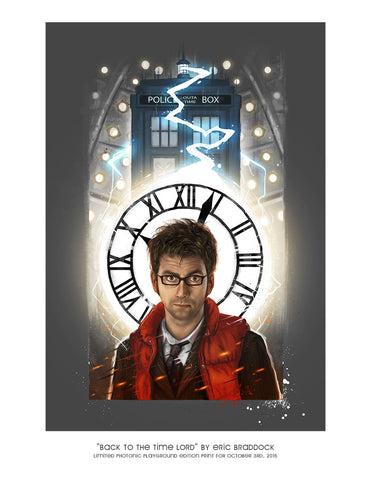 "Giclee Print - 8.5x11"" Back to the Time Lord"