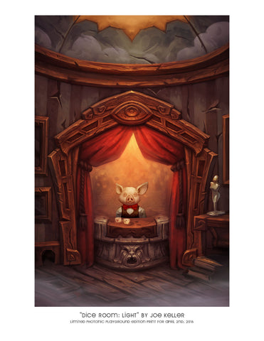 "Giclee Print - 8.5x11"" Dice Room: Light"