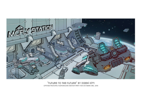 "Giclee Print - 8.5x11"" Future to the Future"