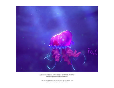 "Giclee Print - 8.5x11"" Jellyfish Tickles Everybody"