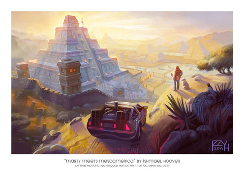 "Giclee Print - 8.5x11"" Marty Meets Mesoamerica"