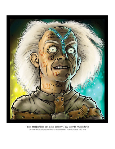 "Giclee Print - 8.5x11"" The Madness of Doc Brown"