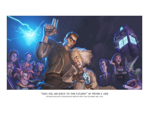 "Giclee Print - 8.5x11"" Who Will be Back to the Future?"
