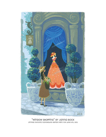 "Giclee Print - 8.5x11"" Window Shopping"