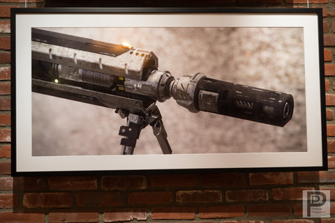 "Framed 49x26"" Rifle, Tip"