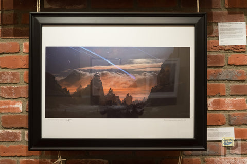 "Large Framed Art - 24x18"" The Brightest Night"