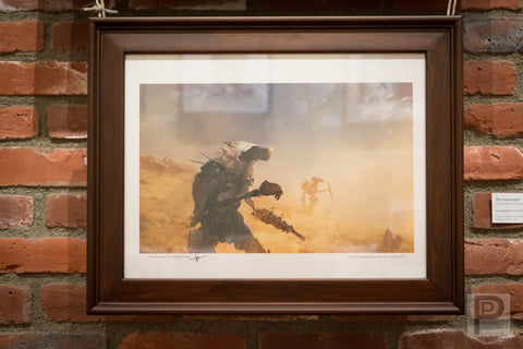 "Large Framed Art - 16x12"" The Scavenger"