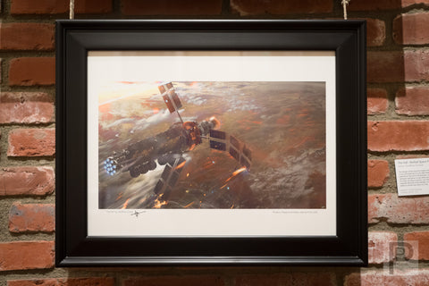 "Large Framed Art - 16x12"" The Fall, Kerbal Space Program"