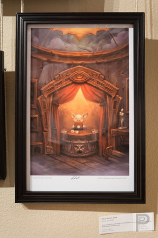 "Large Framed Art - 11x17"" Dice Room: Light"