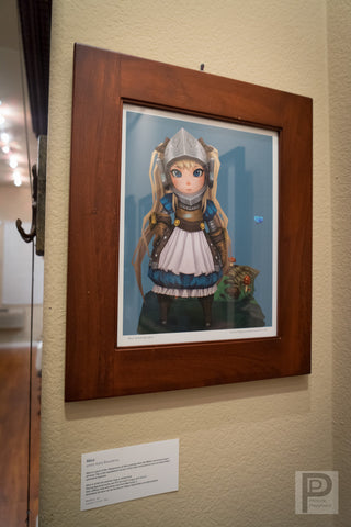 "Large Framed Art - 14x11"" Alice"