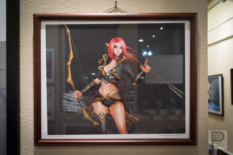 "Large Framed Art - 20x16"" Archer"