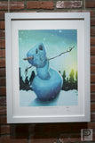 "Framed Art - 18x24"" Snowman Snowman in the Snow, Let it Grow"