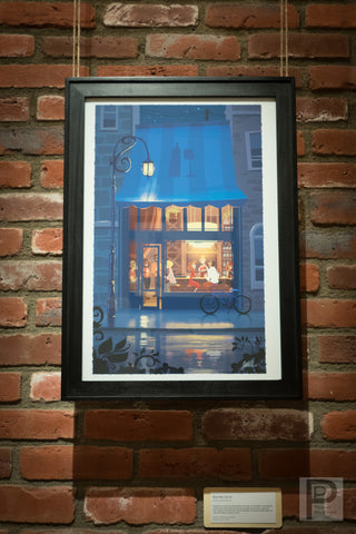 "Large Framed Art - 13x19"" Wine Bar"