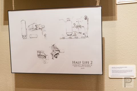 "Large Framed Art - 13x19"" Half Life 2: Concept Sketches II"
