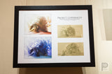 "Large Framed Art - 17x22"" Tortoise Concept Explorations I"