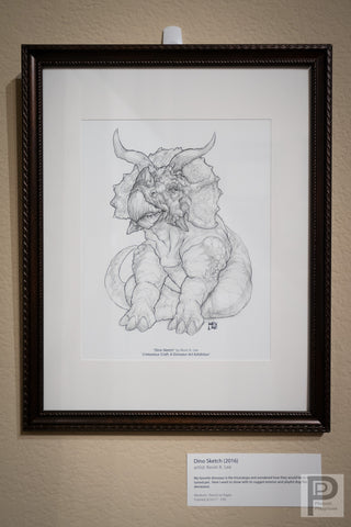 "Framed - 8.5x11"" Dino Sketch"