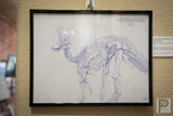 "Framed - 8.5x11"" Duck Bill Dino"