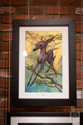 "Large Framed Art - 13x19"" Pegadeer"