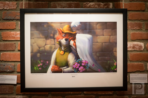 "Large Framed Art - 17x22"" These are Foxes"