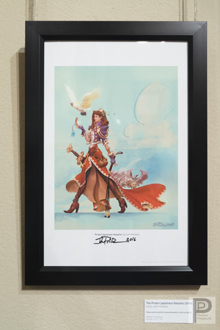 "Framed - 11x17"" Pirate Captainess Natasha"