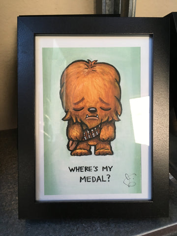 "SuperEmoFriends - Framed 5x7"" Chewie"