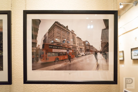 "Large Framed Art - 22x17"" Getting Around Downtown London"
