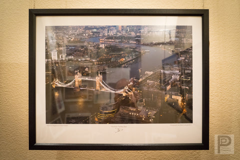 "Large Framed Art - 22x17"" The River Thames, Blue"