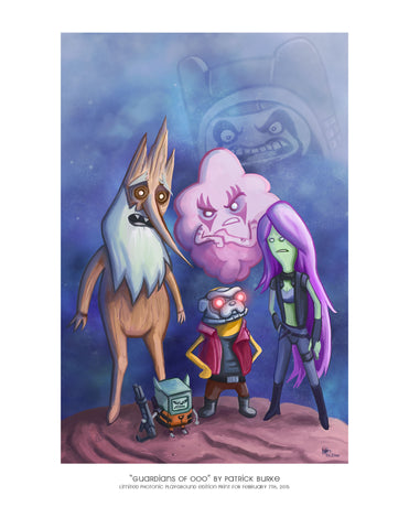 "Giclee Print - 8.5x11"" The Guardians of Ooo"