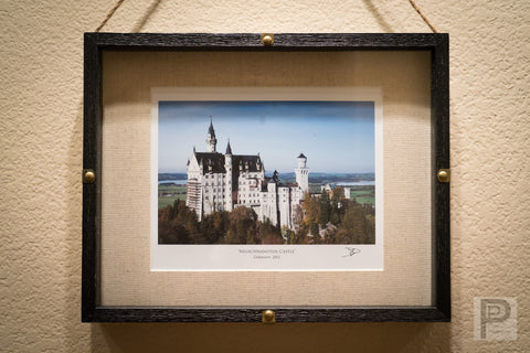 "Large Framed Art - 14x11"" Neuschwanstein Castle"