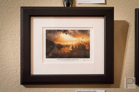 "Framed Art - 10x8"" Temple of Knowledge"