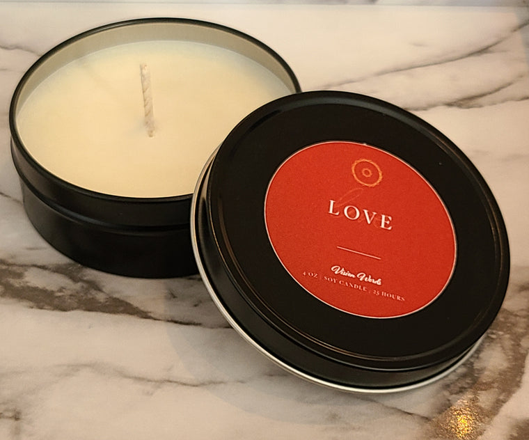 LOVE   4 oz Luxury Soy Candle