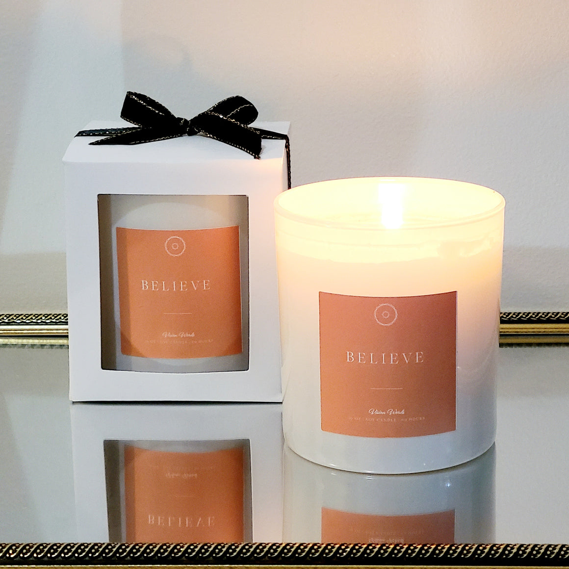 BELIEVE 10 oz Luxury Soy Candle