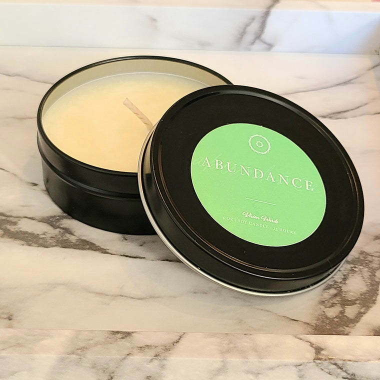 ABUNDANCE  4 oz Luxury Soy Candle