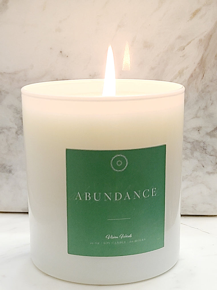 ABUNDANCE  10 oz Luxury Soy Candle