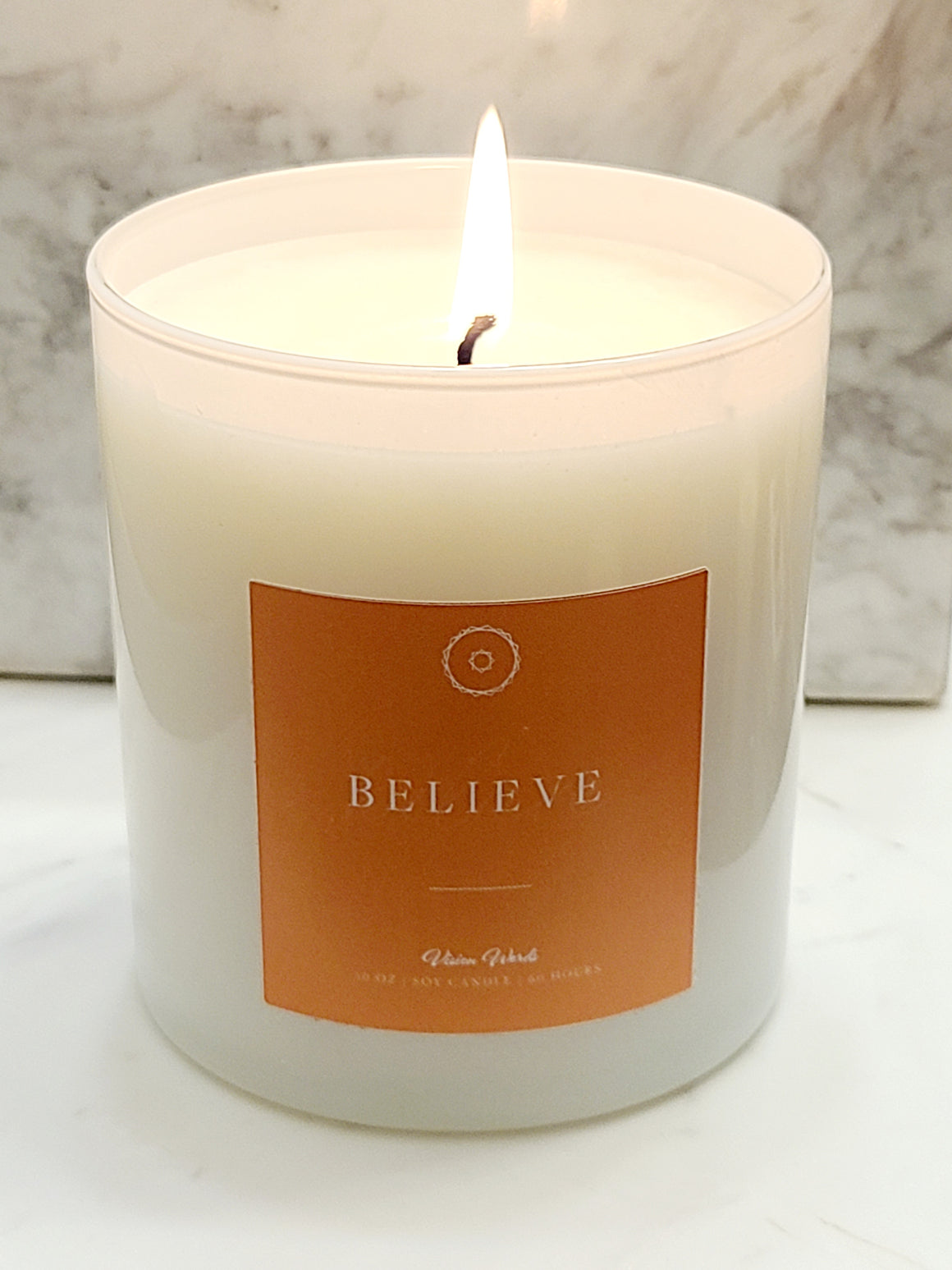 BELIEVE   10 oz Luxury Soy Candle with Vision Words