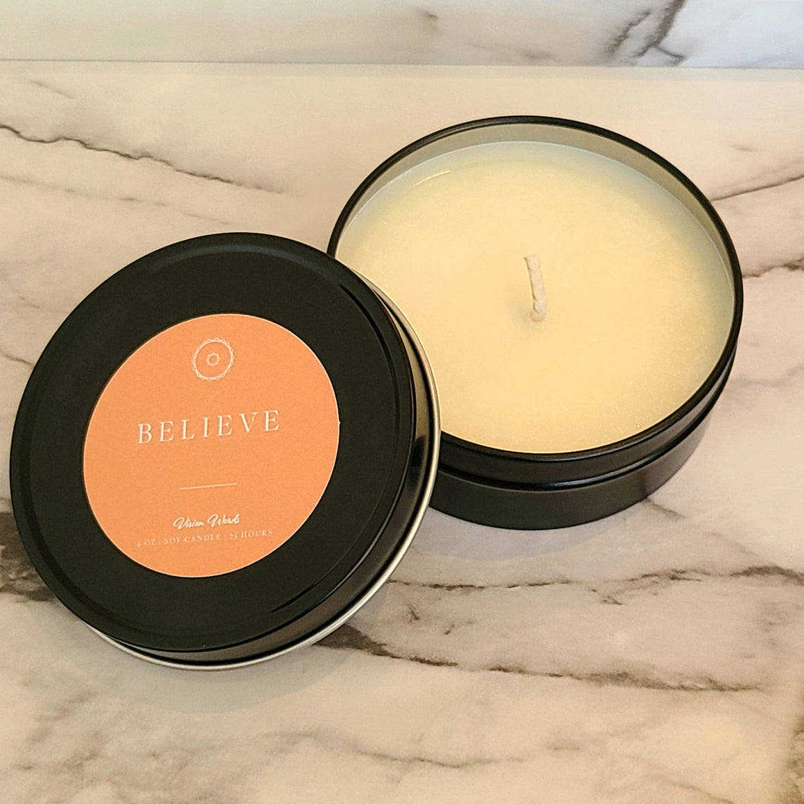 BELIEVE  4 oz Luxury Soy Candle