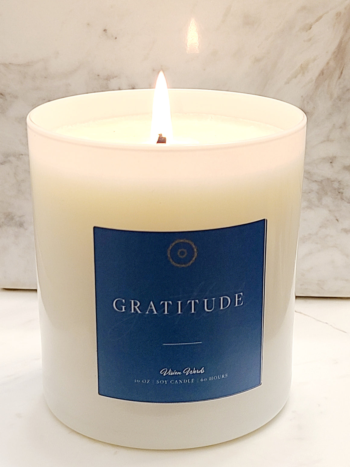 GRATITUDE  10 oz Luxury Soy Candle with Vision Words