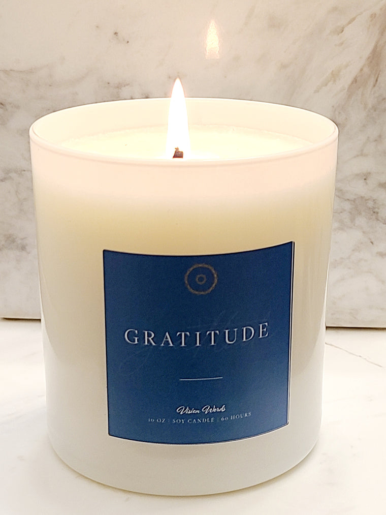 GRATITUDE  10 oz Luxury Soy Candle