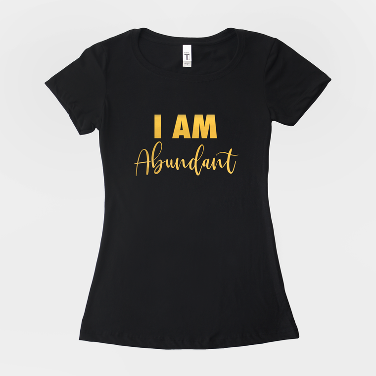 I AM Abundant Gold Foil T-Shirt