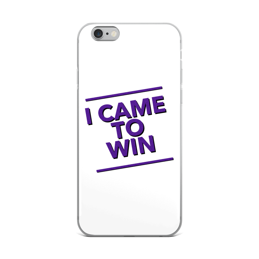 I Came to Win iPhone Case