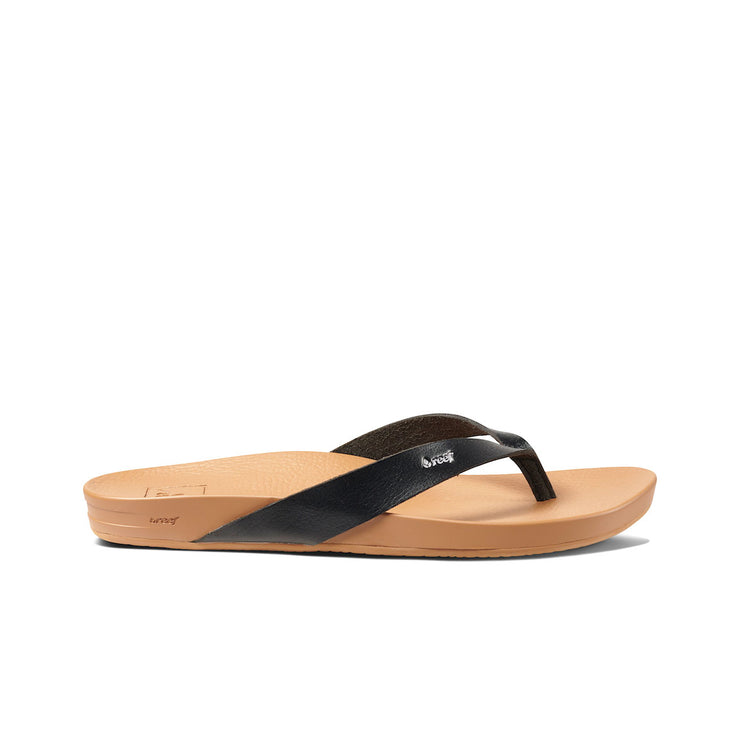 WOMENS CUSHION COURT - BLACK / NATURAL