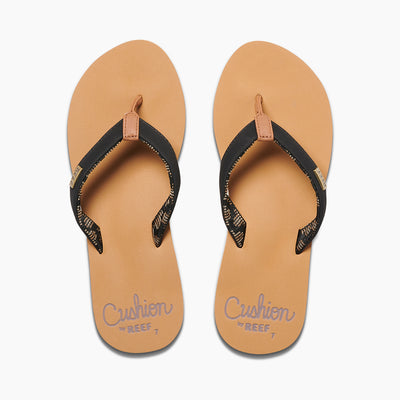 WOMENS CUSHION SAND - BLACK/TAN