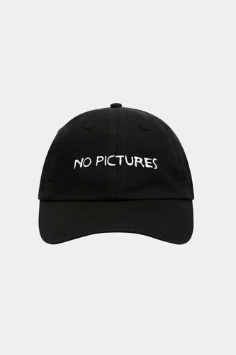 NO PICTURES CAP (BLACK)