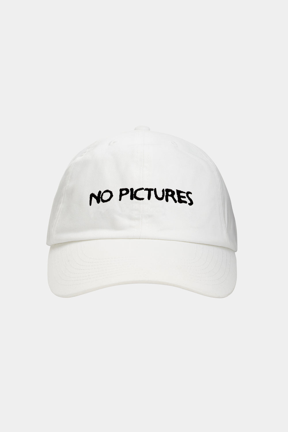 NO PICTURES CAP (WHITE)