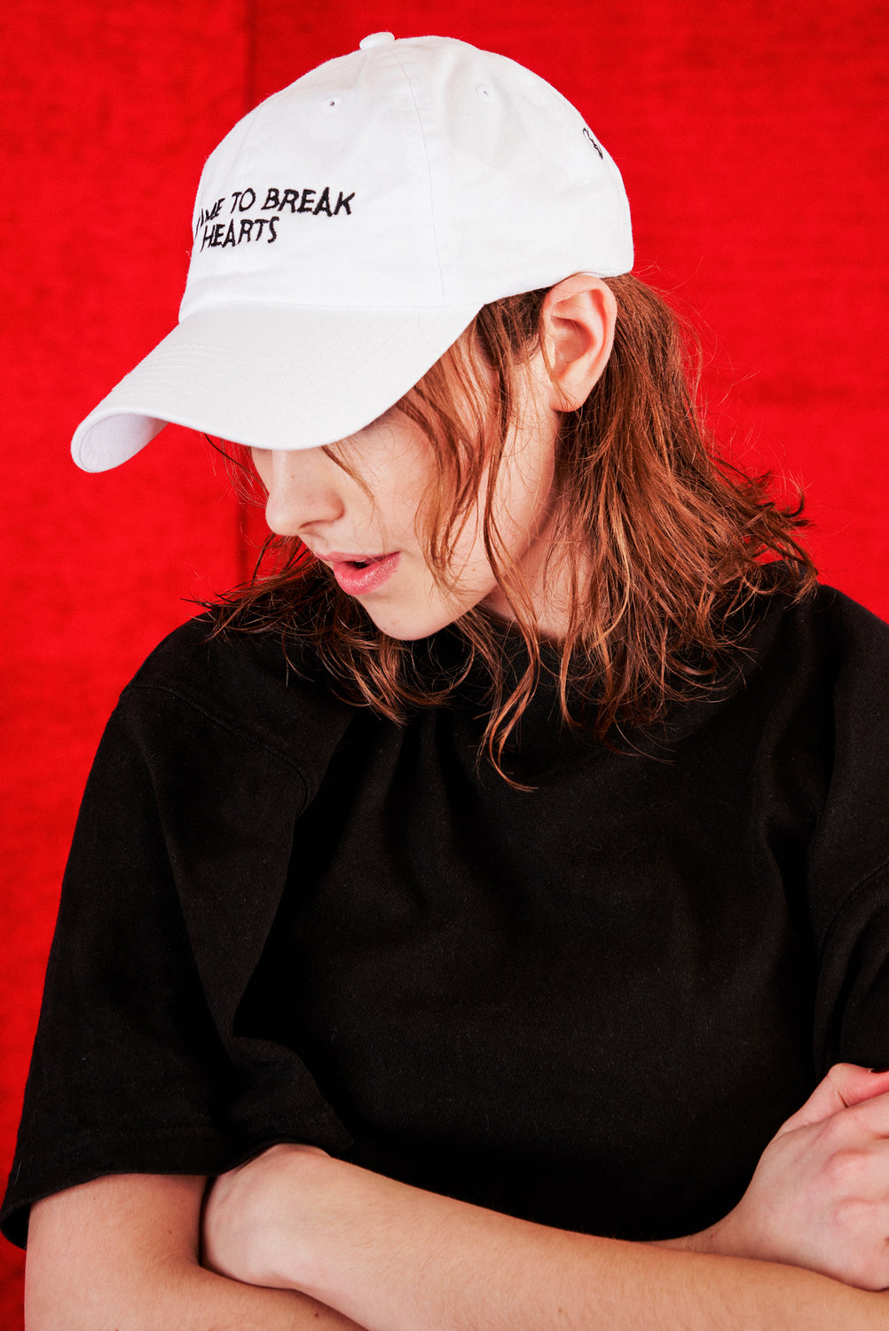 I CAME TO BREAK HEARTS CAP (WHITE)