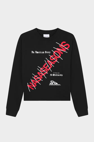 AMERICAN STORY LONG SLEEVE BLACK