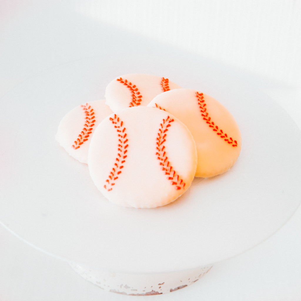 Iced Baseball Cookie