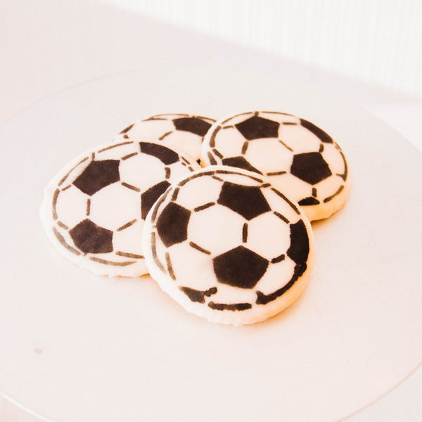 Iced Soccer Ball Cookie
