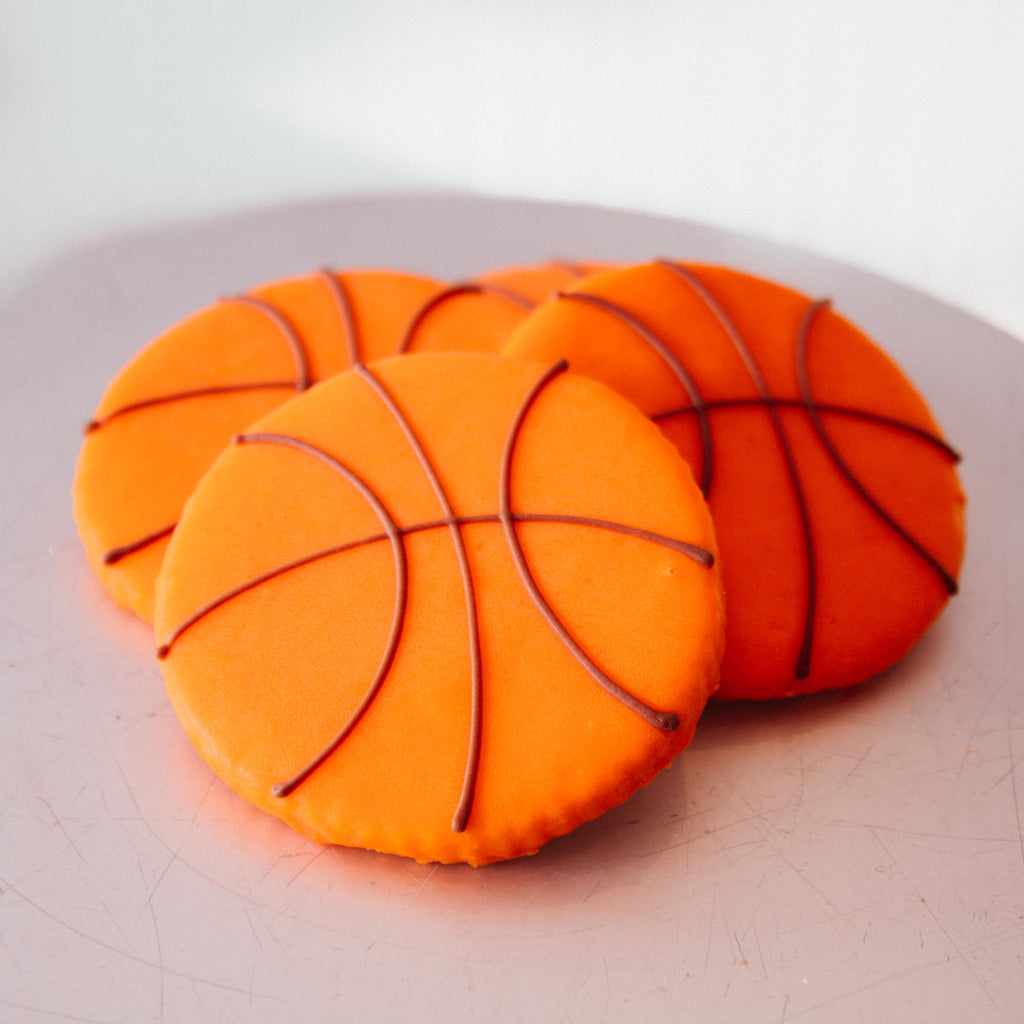Iced Basketball Cookie